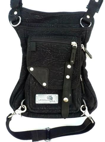 UKoala bag, black purse/bag, wear cross-body or strapped around waist-leg.  This model is concealed carry compatible