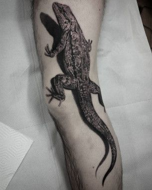 Lizard Leg Tattoo