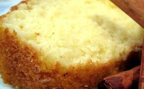 Receita de bolo de canela com iogurte