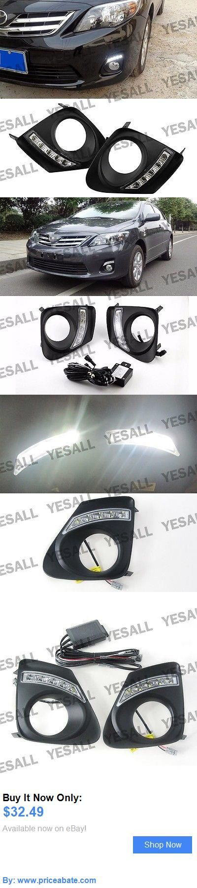 Motors Parts And Accessories: 2X White Led Daytime Run Lights Drl Drive Fog For Toyota Corolla Altis 2010-2013 BUY IT NOW ONLY: $32.49 #priceabateMotorsPartsAndAccessories OR #priceabate