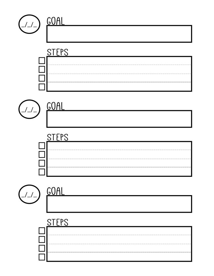 Free Printable Goal Setting Planner Worksheet
