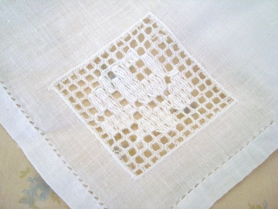 12 White Cotton Napkins Pulled Thread Drawn Work by MamaJesibel