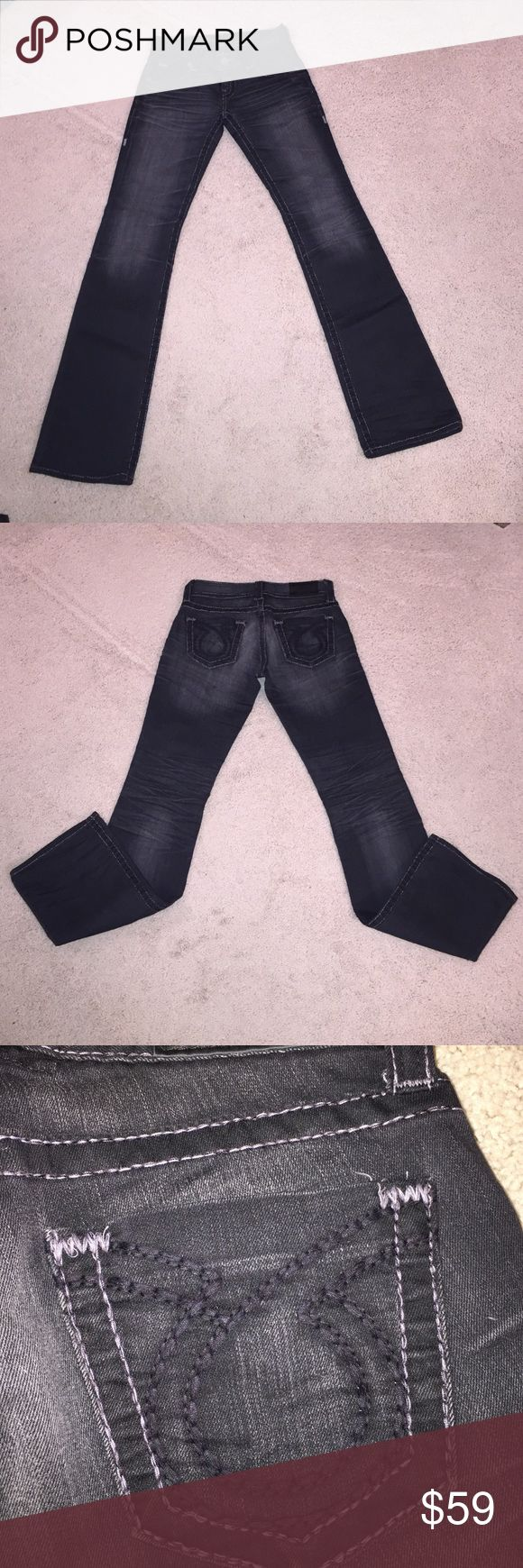Big Star black bootcut Sophia jeans Big Star black bootcut jeans, grey stitching, excellent condition Big Star Pants Boot Cut & Flare