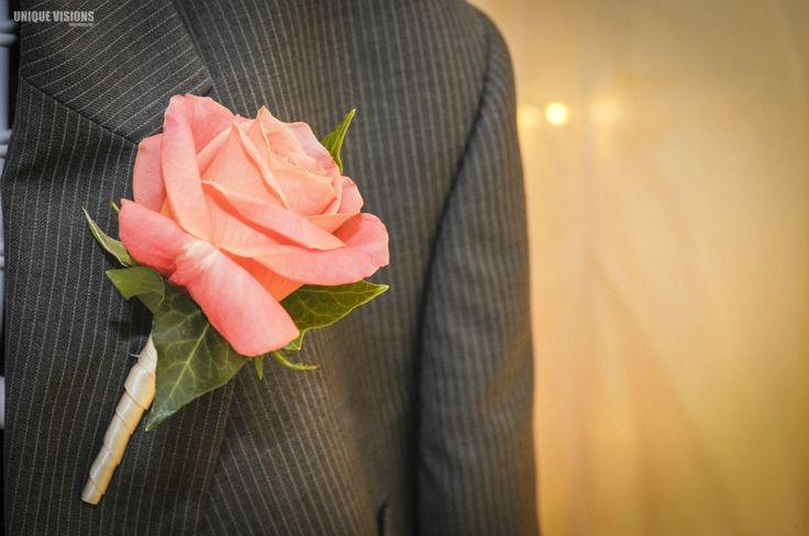 Pink rose buttonhole by Willoughby Road Florist