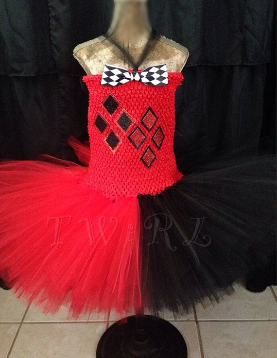 The Harley - Harley Quinn tutu, Harley Quinn costume, suicide squad, batman, the jokers girlfriend, black and red tutu, Halloween costume