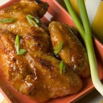 Ginger Orange Glazed Chicken Wings: Chicken, Poulet Glacé, ღChicken Wingsღ, Glaze Chicken, Glazed Chicken, Orange Glaze, Ginger Orange, Chicken Wings Recipe, Of Wings