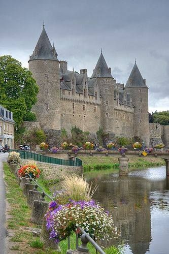 Josselin Casile ~ is a medieval castle built in the 11th century and rebuilt at various times since, Brittany, France