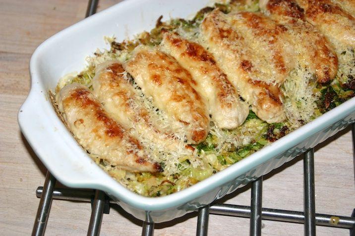 Ostegratineret kylling med savoykål - LCHF