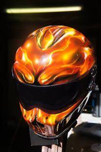 Blaze Artworks Custom Motorcycle Helmet 94