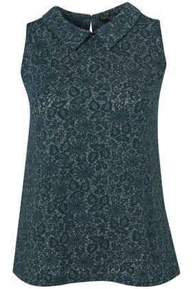 Petite Collar Lace Top