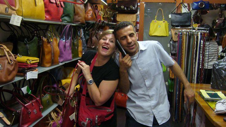 This was a fun handbag guy, he didn't make a sale however.