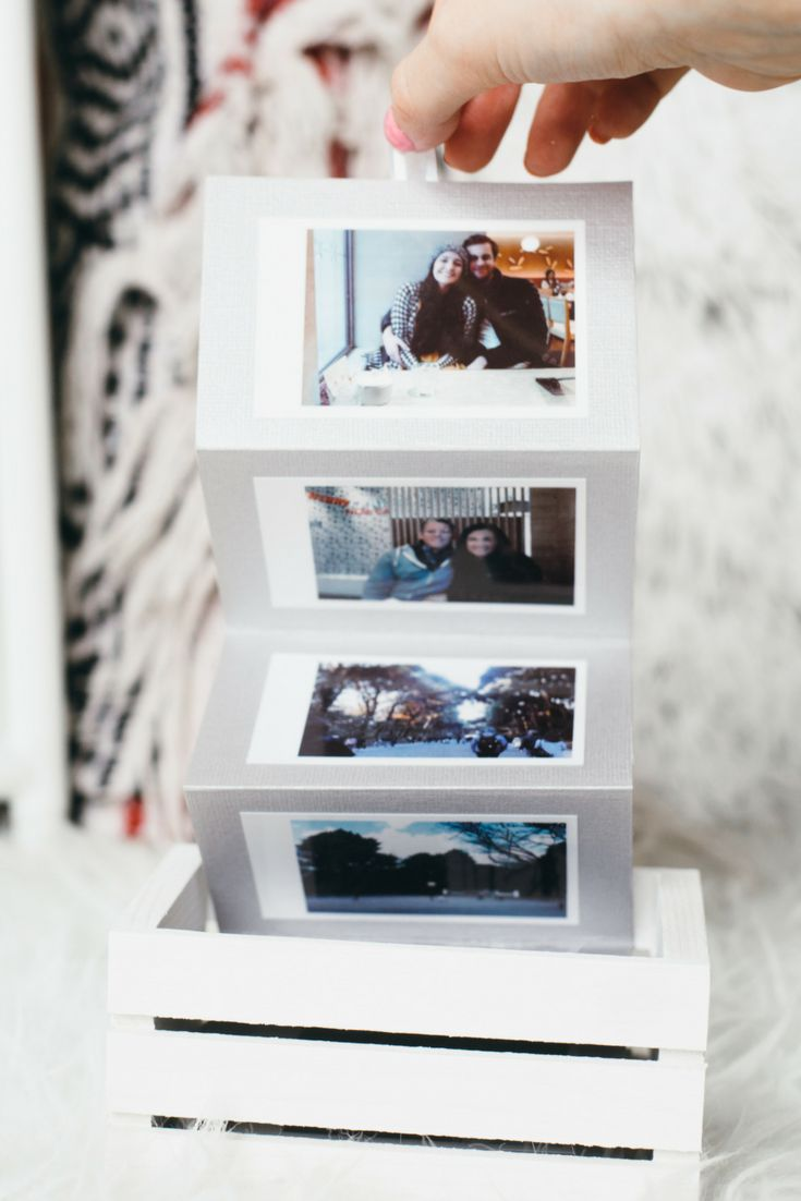 The perfect Polaroid DIY Valentine's Day gift this year. Display all your memories with a DIY photo box - the perfect DIY Valentine's Day gift for your loved one!