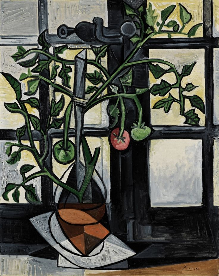 Pablo Picasso, Plant de tomates, Paris, 1944   Dessin picasso, Peintures cubistes et Picasso