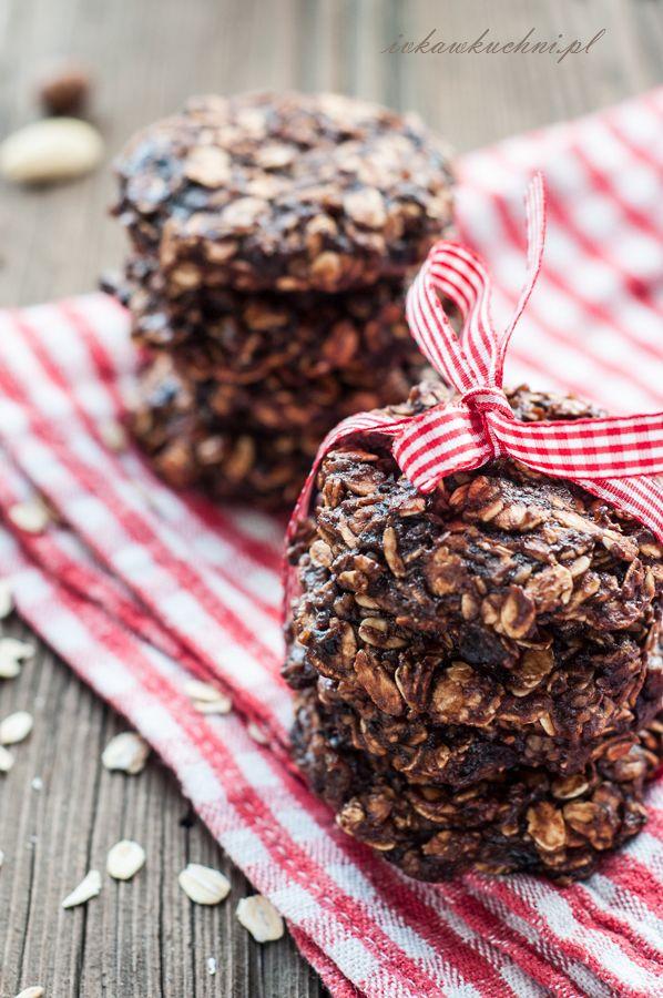 Ivka w kuchni - przepisy i fotografia : Ciasteczka owsiane (bez cukru i bez mąki)