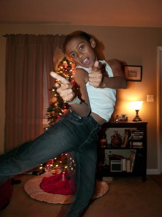 Oh yea awkward Christmas photo lol :)