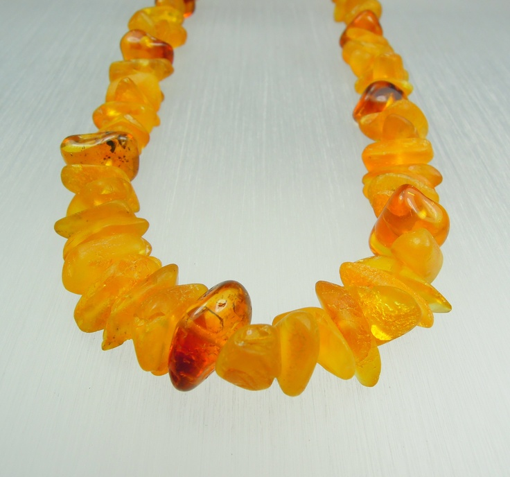 Amber necklace/frosted splitter