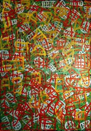 Emily Pwerle : Awelye Atnwengerrp Acrylic on linen Acrylic 90 x 120 cm
