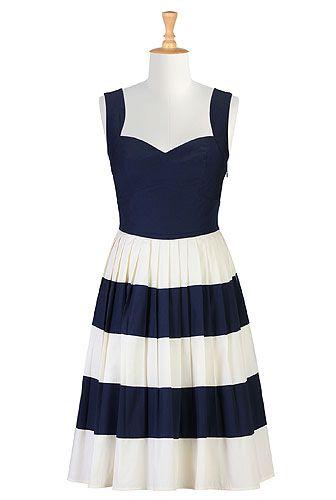 eShakti Her fifties colorblock dress