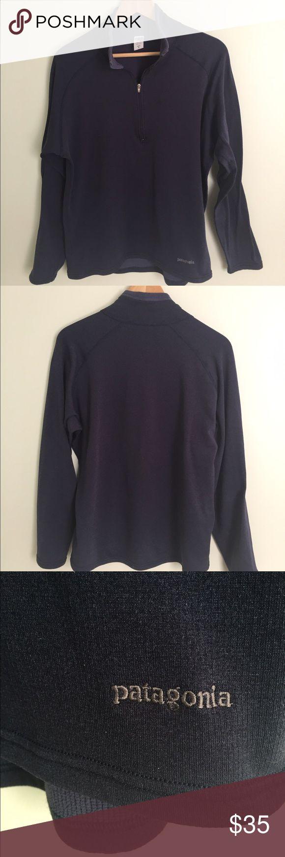 PATAGONIA Men's M Half Zip Navy This is a men's M half zip Patagonia shirt . Activewear. Navy Blue. Waffle weave texture inside. Patagonia Shirts Sweatshirts & Hoodies
