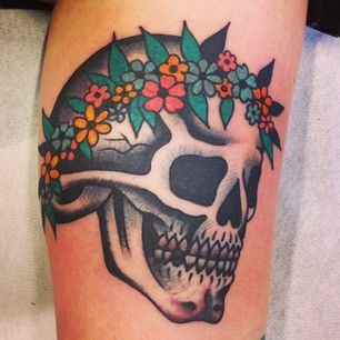 Fun hippie skull! Thanks, Ann! #bluearmstattoo