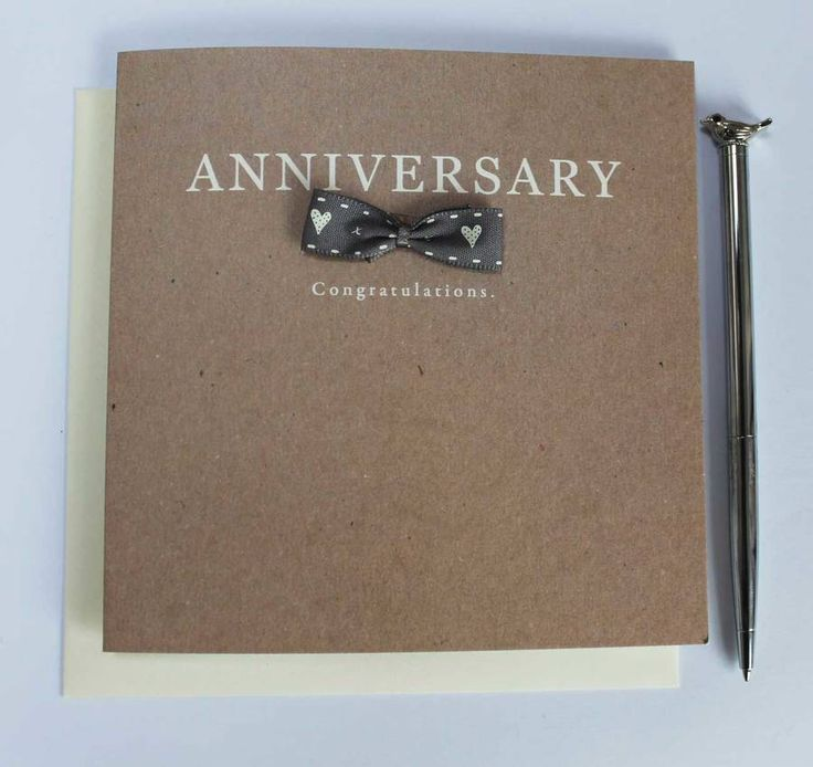Sophisticated Anniversary Card