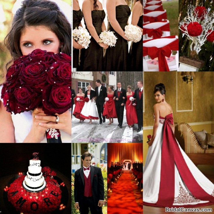 Like The Rose Bouquet And Pic In Center Has Flower Colors Dress Red Wedding ColorsBurgundy WeddingBlack