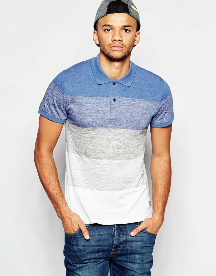 Polo Shirt By Jack Jones Cotton Rich Jersey Polo Collar