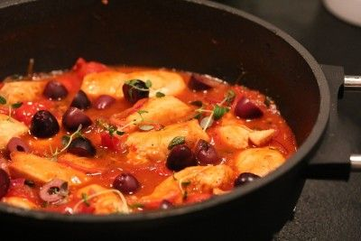 Kyllinggryte med risoni (pasta)