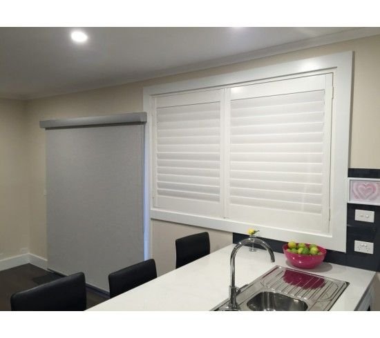 Michael Gubby - Basswood Plantation Shutters in 'Bright White'