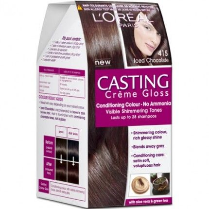 L Oreal Paris Casting Creme Gloss Iced Chocolate 415 Hair Color Chocolate Hair Color Without Ammonia Cool Hair Color