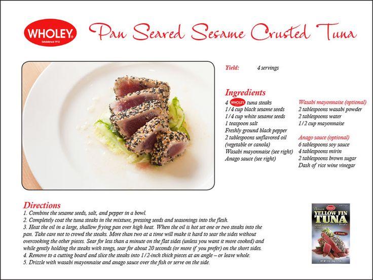 pan seared sesame crusted tuna more recipe cards sesame crusted pan ...