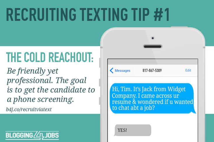 Recruiting Texting Tips