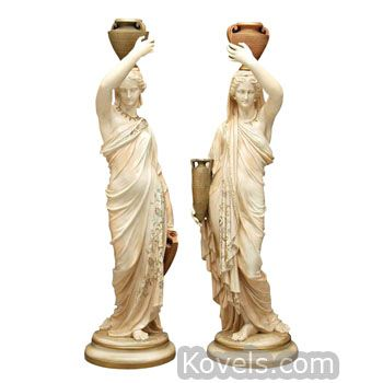 Antique Royal Worcester figurines of Women Bearing Urns, marked 1867  | Antiques & Collectibles Price Guide | 4 | Kovels.com