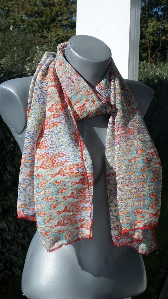 foulard écharpe tube tour de cou snood femme rouge blanc bleu nouvelle  collection f50ccb99322
