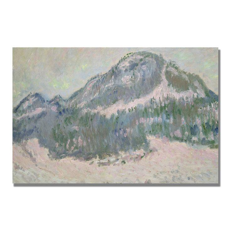 Claude Monet 'Mount Kolsaas Norway' Art