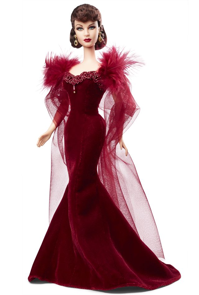The Scarlett doll wears this fabulous deep red doll that she wore for that scandalous scene at Melanie's birthday party.