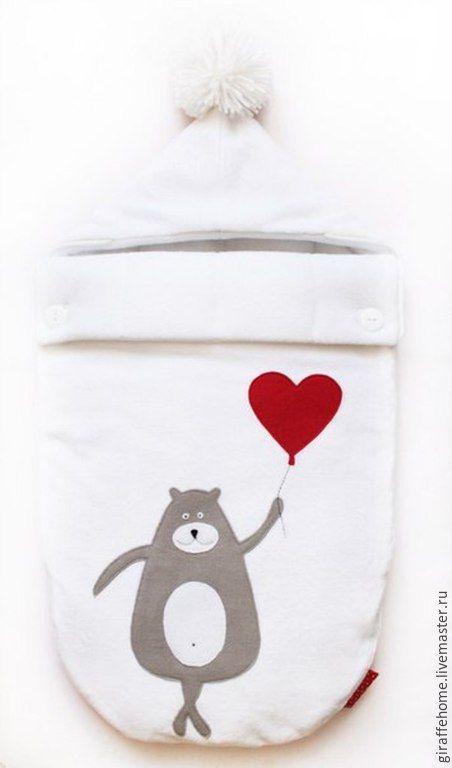 """Купить Конверт для новорожденных """"Плюшевый"""" - белый, конверт для малыша, конверт…"""