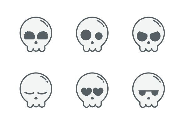 Holloween is almost here! Download these cute skull vector icons and more at https://www.iconfinder.com/lsedesigns