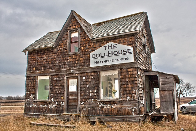 Heather Benning doll house. Located off highway 2 near Sinclair, Manitoba, Canada.