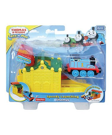 This Thomas & Friends Speedy Launching Thomas Toy is perfect! #zulilyfinds
