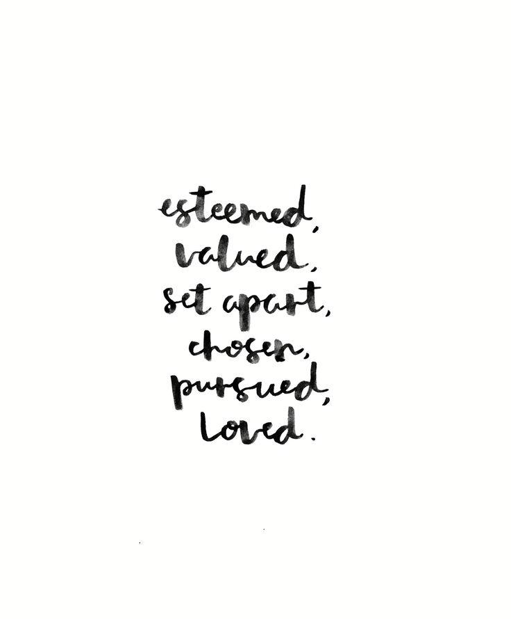 Identity. Valued. Chosen. Loved.