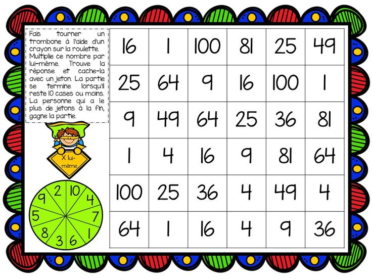 Les 25 meilleures id es de la cat gorie jeux sur les - Apprendre tables de multiplication en jouant ...