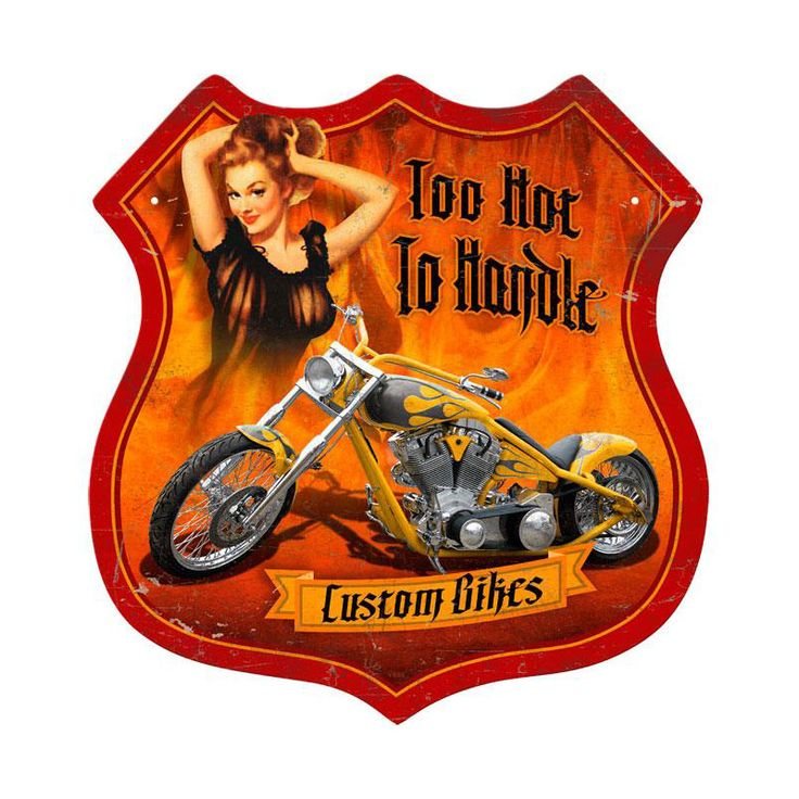 Best 141 Cool Metal Signs Motorcycle Images On Pinterest