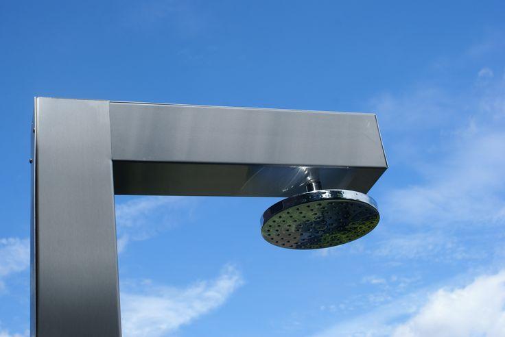 Outdoor shower: Stainless steel Buiten douche: RVS staal