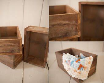 Artículos similares a Huacales de madera decorados vintage en Etsy