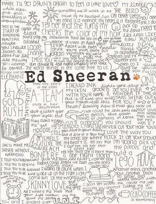 ed sheeran lyric drawings - photo #16