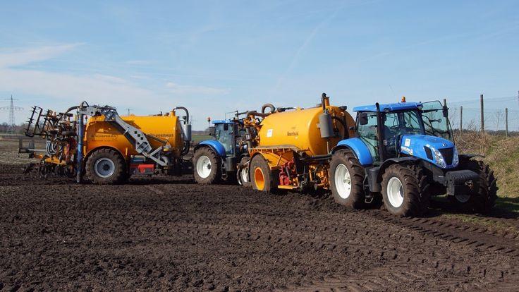 Maximaal in de mest met Veenhuis en New Holland  New Holland T7.260 en T...