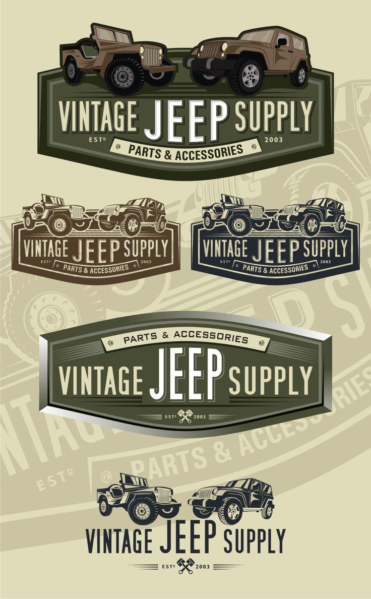 Vintage Jeep Supply winning final logo design. | Logo ...