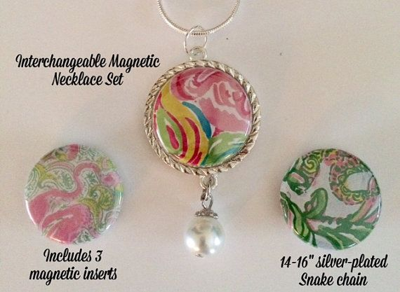 Interchangeable Magnetic Necklace Set by BellyLaughButtons on Etsy