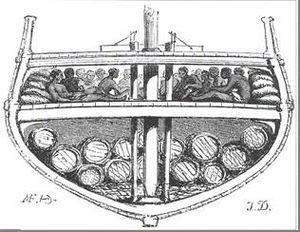 Coupe d'un navire négrier